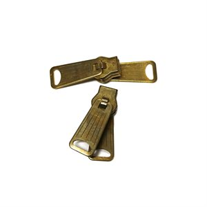 Brass Zipper #7 Double Pull Slides DISCONTINUED