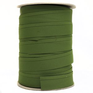 "Recacril Acrylic Canvas Binding 1 1/4"" One Side Folded Khaki Green"
