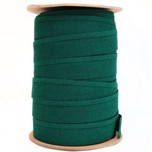 "Recacril Acrylic Canvas Binding 1 1/4"" One Side Folded Green Tweed"