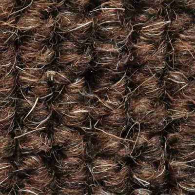 BROWN GERMAN SQUARE WEAVE WOOL CARPET 65' *CALL BEFORE ORDERING. WIDTH VARIES*